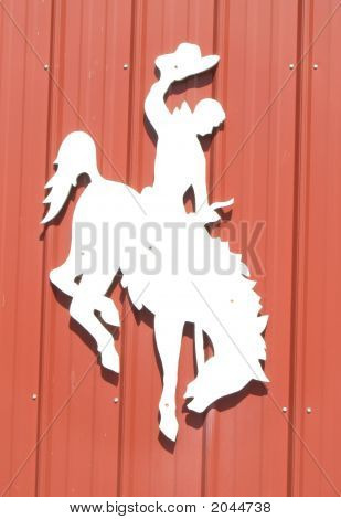 Bronking Horse Silhouette