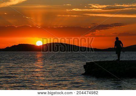 Adriatic Sunset Summer Sunset in Croatia, Adriatic