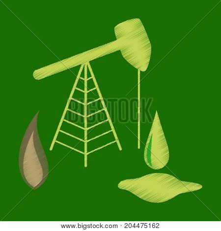 flat shading style icon Gas and oil production