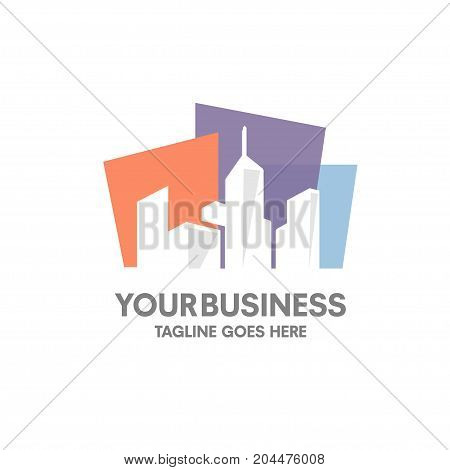 simple fresh new real estate building logo