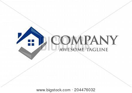simple concept House Icon & Right Tick Symbol, home choice, property choice