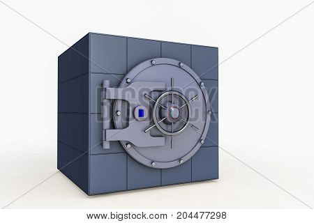 a safe against isolated background (3d rendering)