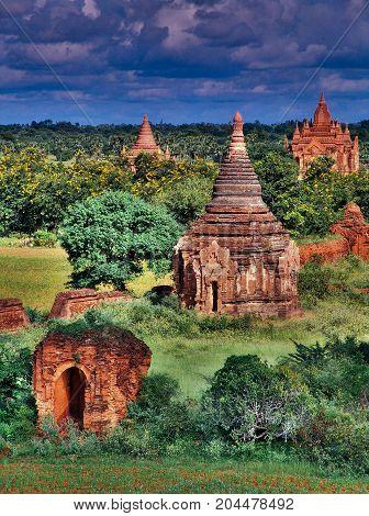 Myanmar, Bagan - Aerial View Nb. 18