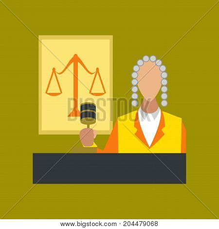 flat icon on stylish background education jurisdiction judge
