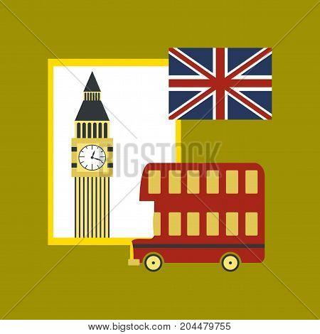 flat icon on stylish background school United Kingdom set