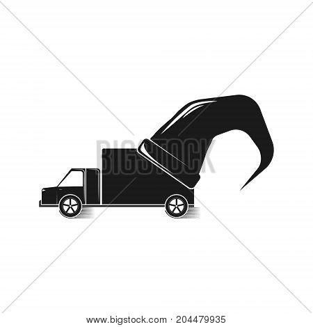 Car Delivery Logo For Design. Vector Illustration