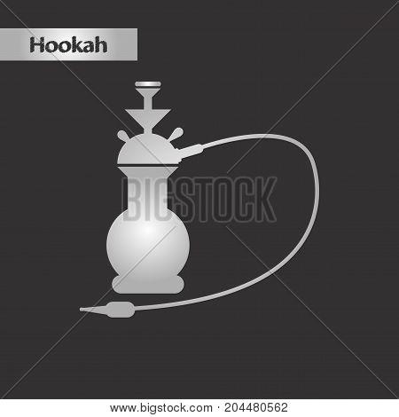black and white style icon Eastern smoke hookah