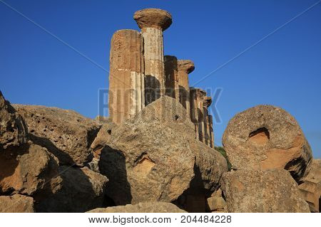 The Valley of Temples in Agrigento. Sicily