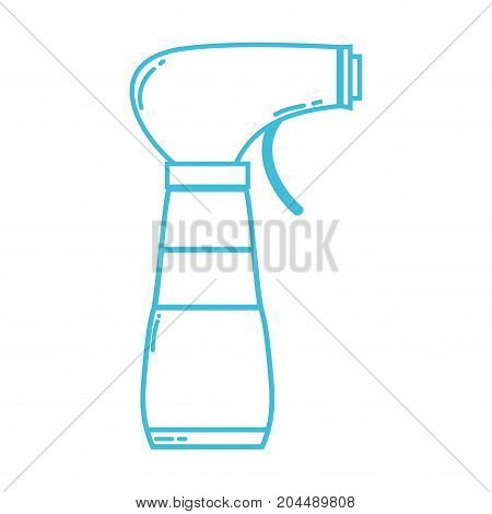 line spray bottle design with soap to clean vector illustration