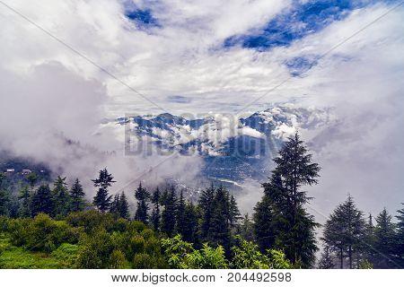 Areal View Of Kulu Valley. Himachal Pradesh, India.
