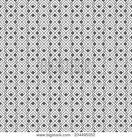 Seamless pattern. Geometrical modern stylish texture. Regularly repeating classical tiles with rhombuses diamonds corners. Vector element of graphical design