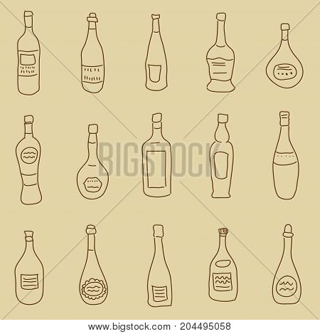 Seamless Pattern With Stylized Hand-drawn Spirits For Design