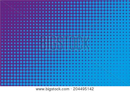 Abstract monochrome halftone pattern. Comic background. Dotted backdrop with circles, dots, point. Design element for web banners, posters, cards, wallpapers, sites. Black and purple color