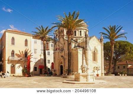 Orthodox Church of Archangel Michael. Old Town of Herceg Novi, Montenegro