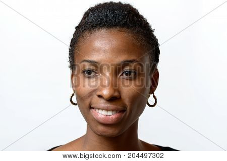 Attractive African Woman With A Lovely Warm Smile