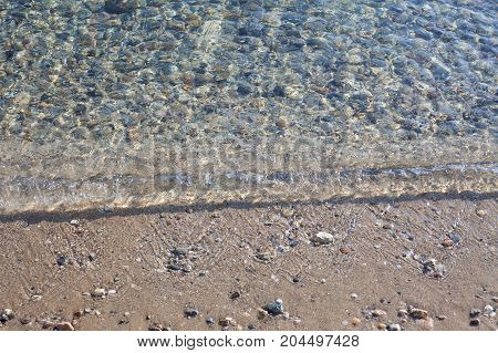 Details of small sea wave, abstract composition.