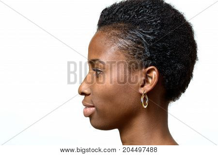 Profile Portrait Of An Attractive African Woman