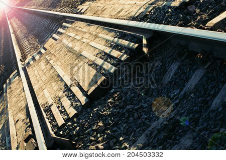 Rails And Sleepers.