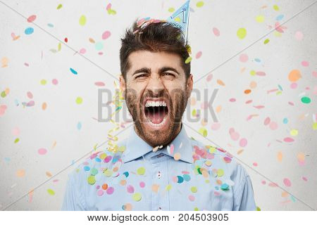 Dejected Stressful Man Organises Party With Friends, Celebrates His Finding New Prestigious Job, Scr