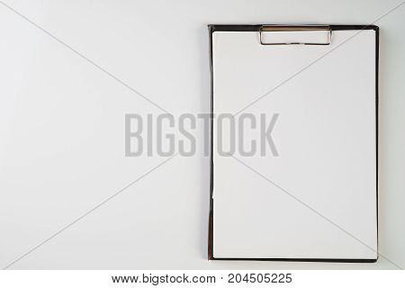 Clipboard And Paper Isolated On White Background With Copy Space