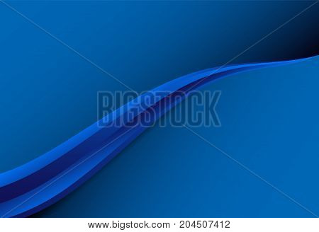 Navy Blue gradient curve background material design overlap layer illustration