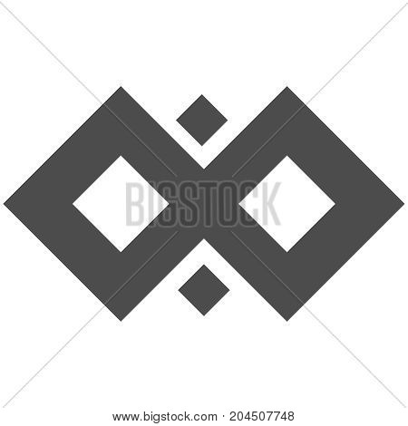 Infinity vector symbol loop. Figure 8 icon, eternity logo sign in original design, forever eternity knot, number 8 inverted in flat style.