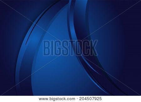 Blue gradient curve background material design overlap layer illustration