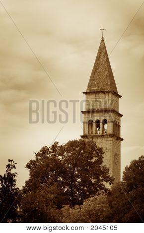 Vintage Churc Bell Tower