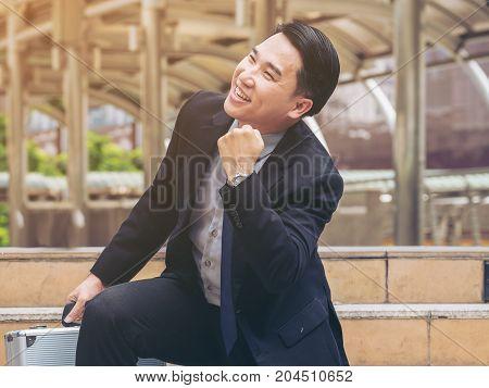 Happy Business Man, Business Success