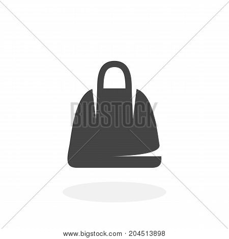 Shopping bag icon isolated on white background. Shopping bag vector logo. Flat design style. Modern vector pictogram for web graphics - stock vector