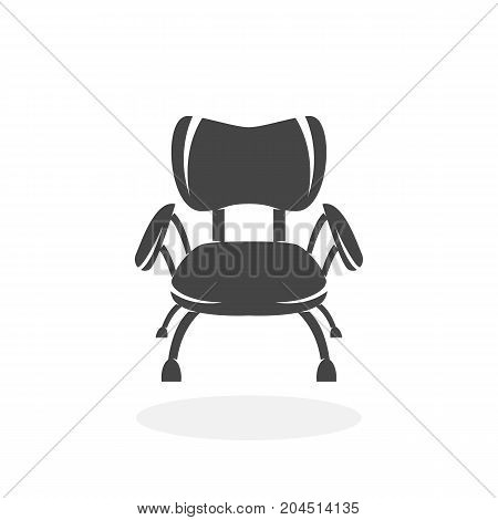 Chair icon isolated on white background. Chair vector logo. Flat design style. Modern vector pictogram for web graphics - stock vector
