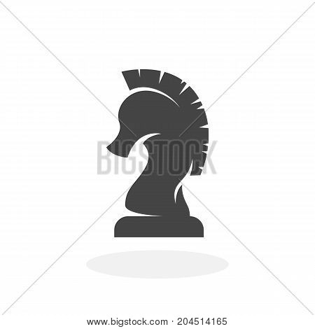 Chess knight icon isolated on white background. Chess knight vector logo. Flat design style. Modern vector pictogram for web graphics - stock vector