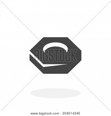 Nut screw icon isolated on white background. Nut screw vector logo. Flat design style. Modern vector pictogram for web graphics - stock vector