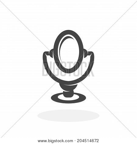 Mirror icon illustration isolated on white background sign symbol. Mirror vector logo. Modern vector pictogram for web graphics - stock vector