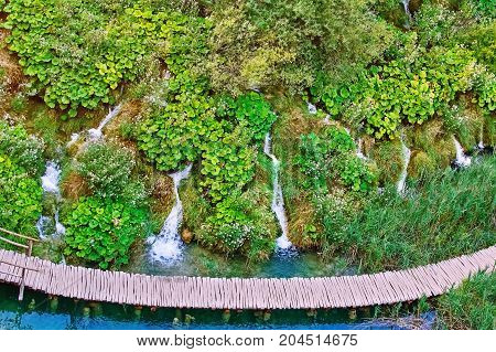 Waterfalls In The Plitvice Lakes National Park