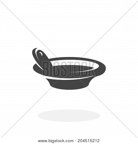 Soup icon illustration isolated on white background sign symbol. Soup vector logo. Modern vector pictogram for web graphics - stock vector