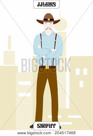 the illustration - card for mafia - the Commissar.