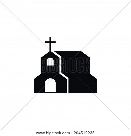 Cross Vector Element Can Be Used For Chapel, Christian, Cross Design Concept.  Isolated Chapel Icon.