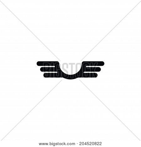 Freedom Vector Element Can Be Used For Swing, Wings, Insignia Design Concept.  Isolated Insignia Icon.
