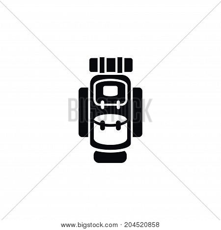 Packsack Vector Element Can Be Used For Backpack, Bag, Luggage Design Concept.  Isolated Haversack Icon.