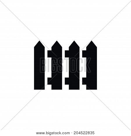 Protection Vector Element Can Be Used For Wooden, Barrier, Fence Design Concept.  Isolated Fence Icon.