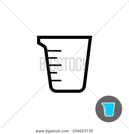 Measuring cup empty icon. Outline style symbol.