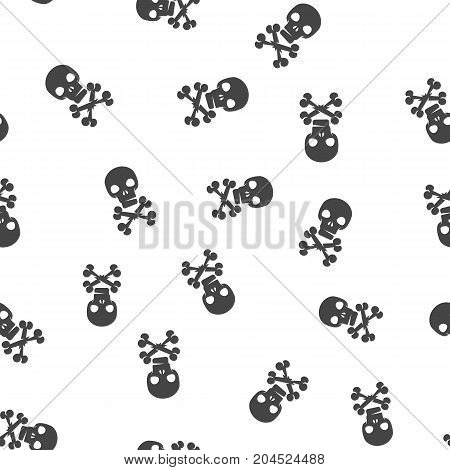 Skull and crossbones seamless pattern. Vector illustration for backgrounds