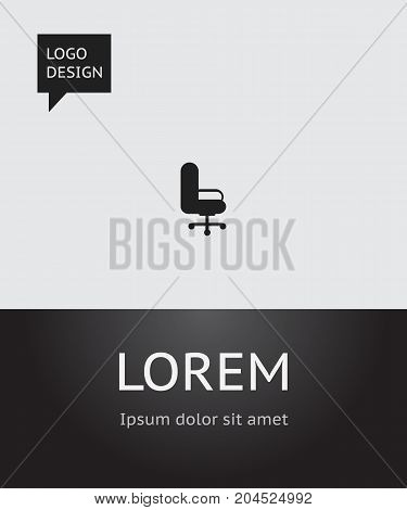 Vector Illustration Of Bureau Symbol On Office Chair Icon