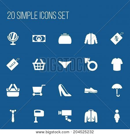 Set Of 20 Editable Business Icons. Includes Symbols Such As Guard Camera, Boy Symbol, Stir And More