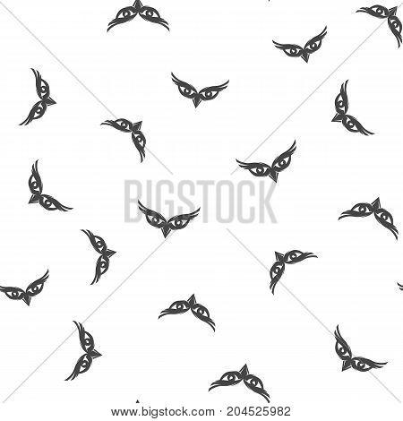 Owl eyes seamless pattern. Vector illustration for backgrounds