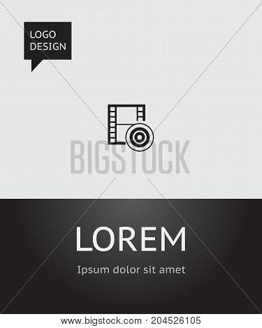Vector Illustration Of Movie Symbol On Filming Icon