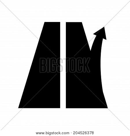 road sign exit from the motorway. Right arrow. Highway or track. vector