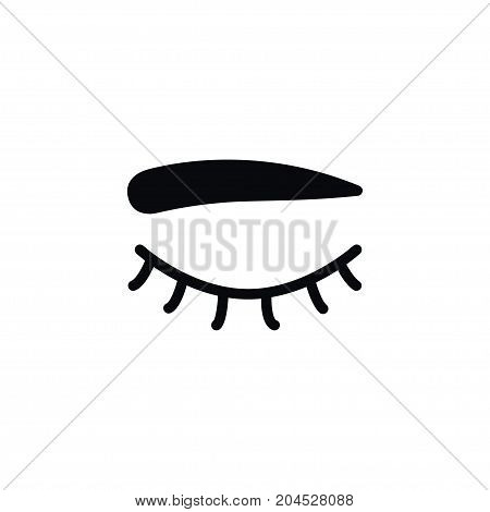 Eyelid Vector Element Can Be Used For Eye, Eyelid, Eyelash Design Concept.  Isolated Eyelash Icon.