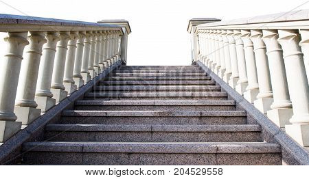 architecture stone steps isolated on white background